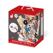 Baril Bricolage Brico Kids 50 Pièces en bois Janod