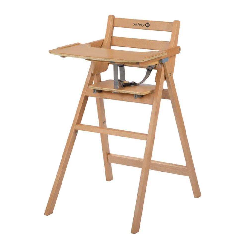 Chaise haute pliante en bois Nordik Naturel de Safety 1st