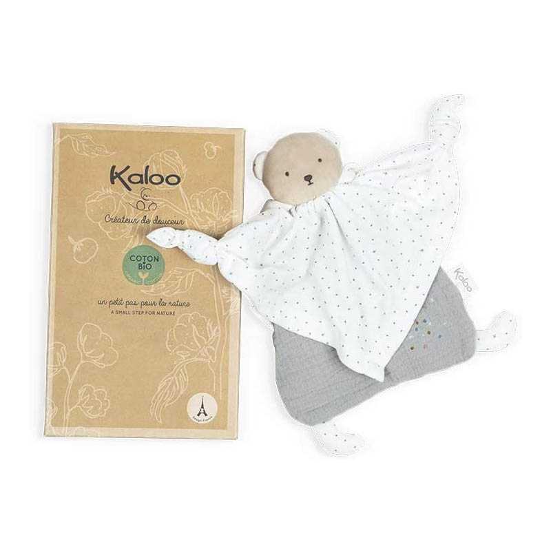 Ours Doudou en coton bio Gris Kaloo