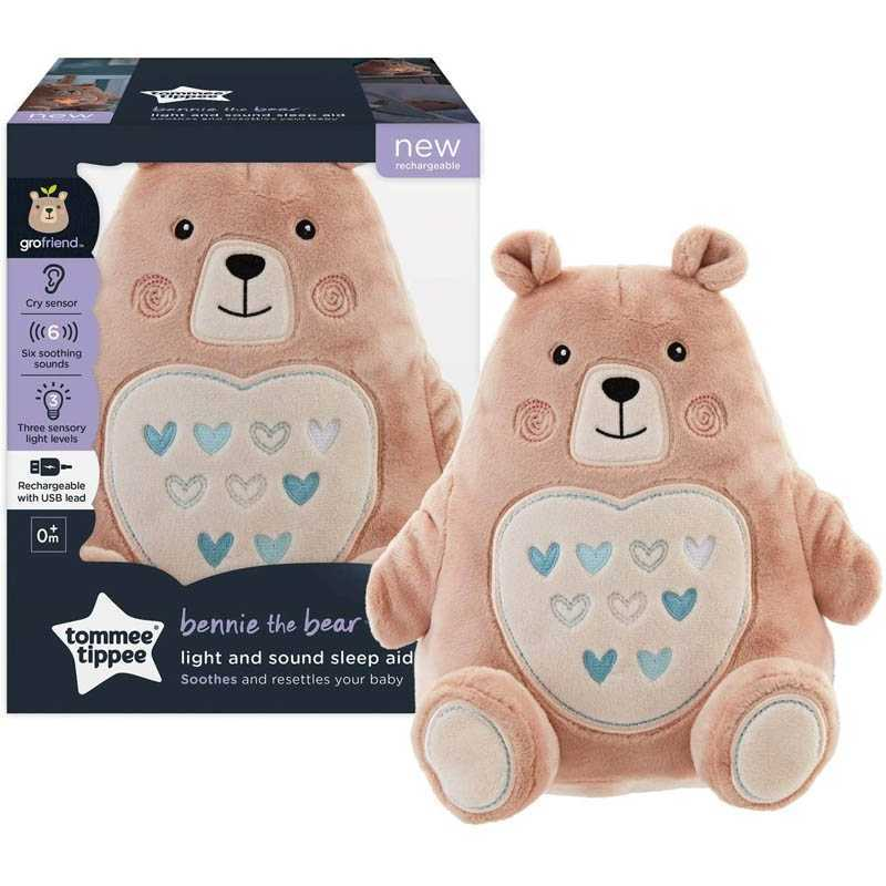 Berceuse Lumière & Son Beanie L'ours Tommee Tippee