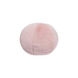 Coussin décoratif balle fourrure Rose