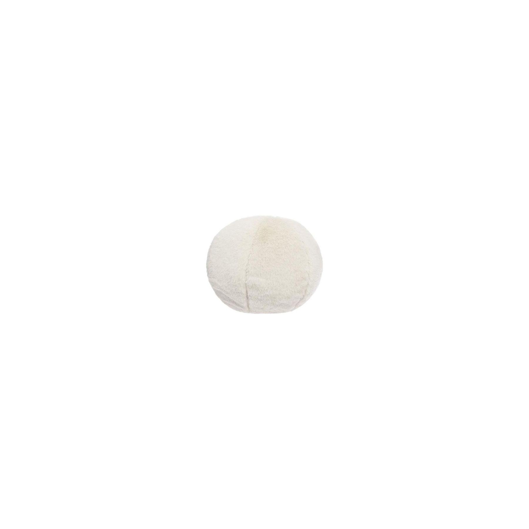 Coussin décoratif balle fourrure Blanc