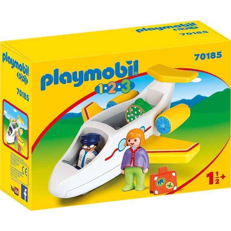 Avion avec ensemble de jeu pour passagers Playmobil