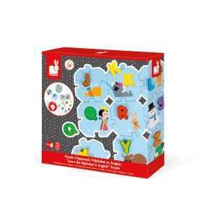 Puzzle J'apprend alphabet en anglais Janod