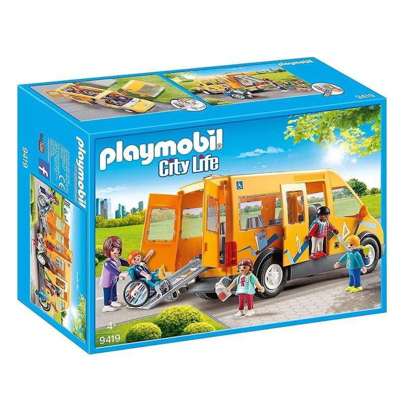 Van Scolaire avec rampe déployable Playmobil