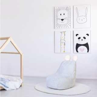 Fauteuil Poire Enfant Bleu Ted Home Deco Kids