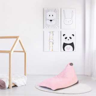 Pouf Velours Cotele Rose Malo Home Deco Kids