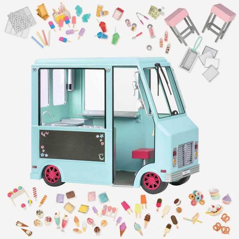 Camion de glaces pour poupée