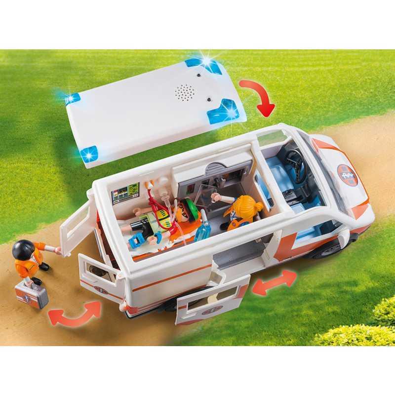 Ambulance Playmobil City avec Lumière et Sons