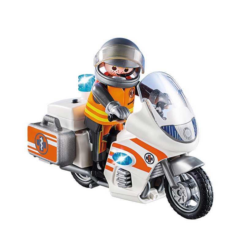 Moto d'urgence avec voyant LED Playmobil City