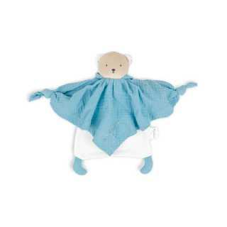 Ours doudou en coton bio bleu Kaloo