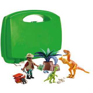 Exploration & Dinosaure Boîtier de transport Playmobil