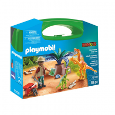 Exploration & Dinosaure Boîtier de transport Playmobil
