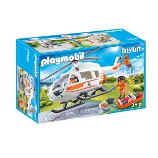 Hélicoptère avec équipe médical Playmobil City