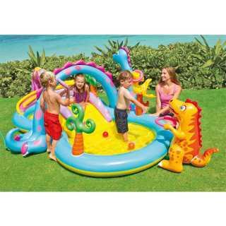 Aire de jeu aquatique gonflable Dinoland 333 x 229 x 112 Intex
