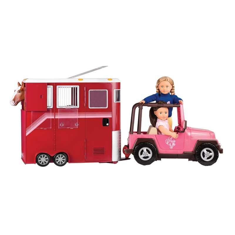 Van pour chevaux et poupée Our Generation