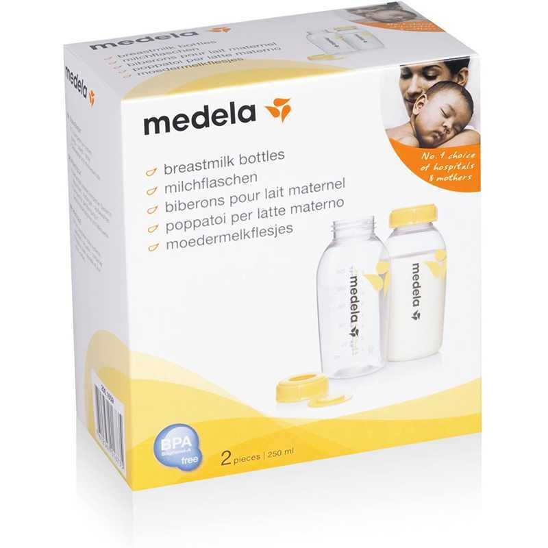 Lot de 2 biberons pour lait maternel 250ml Medela