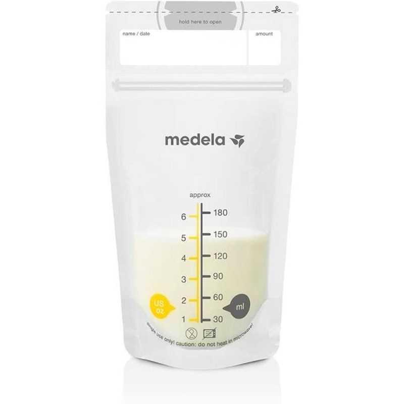 Lot de 50 sachets pour lait maternel Medela