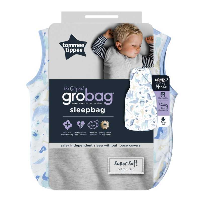 Sac de Couchage Grobag 2.5 TOG Monde Animale 18-36m Tommee Tippee