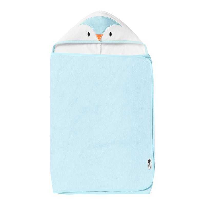 Serviette à Capuche Percy le Pingouin Bleu Tommee Tippee