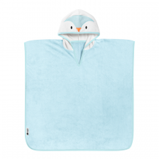 Serviette poncho Percy le Pingouin Bleu Tommee Tippee
