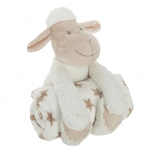 Plaid + Peluche Mouton Blanc Atmosphera