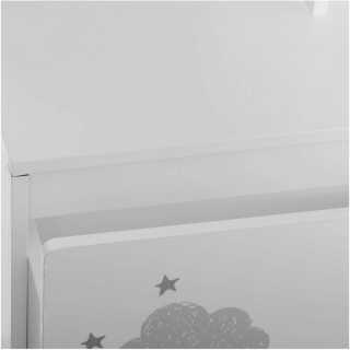 Meuble coffre roulettes Blanc Atmosphera