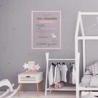 Les regles de la chambre fille Home Deco Kids