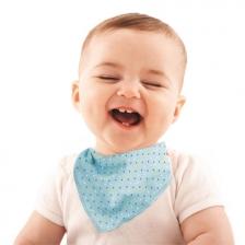 Lot de 2 Bavoirs Bandana bébé Tom&Zoé - Bleu