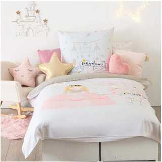 Parure de lit enfant princesse 140x200 Atmosphera