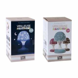 Lampe - Veilleuse Champignon Tactile Tom et Zoé - Bleu
