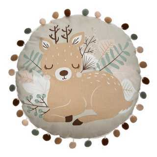 Coussin rond print biche Atmosphera