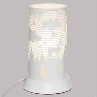 Lampe decorative en metal Blanc Atmosphera