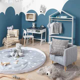 Fauteuil enfant molletonné Gris Atmosphera for Kids