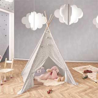 Tipi decoratif enfant Gris Home Deco Factory