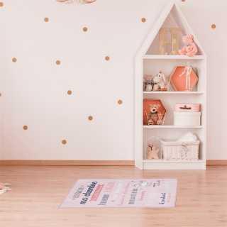 Tapis règles de la chambre Rose 60x90 Home Deco Factory