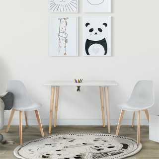Table avec pot a crayons Gribouille Home Deco Kids