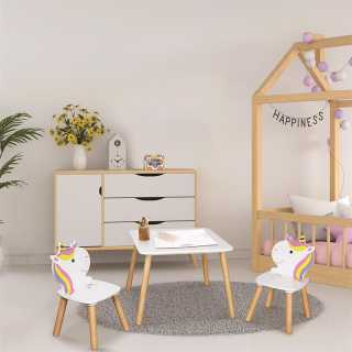 Table et 2 chaises Licorne Lily Home Deco Kids