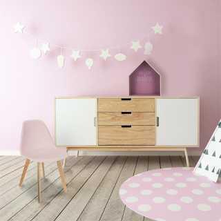Chaise scandinave enfant coque Rose Home Deco Factory