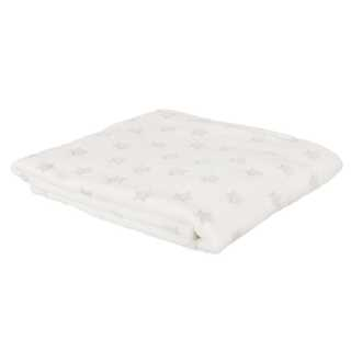 Plaid enfant phosphorescent étoile Blanc Home Deco Factory
