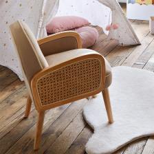 Fauteuil Cannage pour Enfant Taupe Atmosphera For Kids