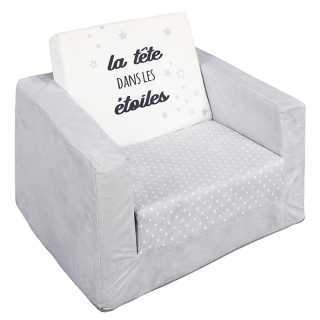 Fauteuil convertible liberty Gris Home Deco Kids