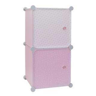 Rangement modulable 2 cubes fille Home Deco Kids