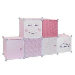 Rangement armoire modulable 6 cubes fille Home Deco Kids