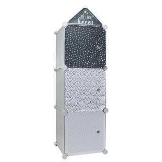 Rangement armoire modulable 3 cubes garçon