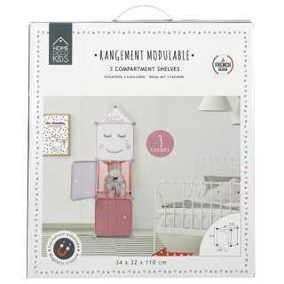 Rangement armoire modulable 3 cubes fille Home Deco Kids