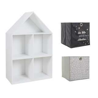 Meuble Maison + 2 cubes de rangement garçon