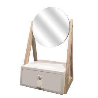 Boite a bijoux miroir Blanc Home Deco Factory