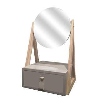 Boite a bijoux miroir Gris Home Deco Factory