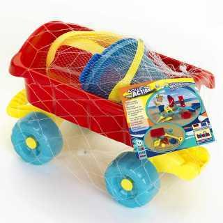 Chariot de plage avec accessoires Aqua Action